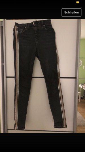 Topshop Jeans taille haute multicolore