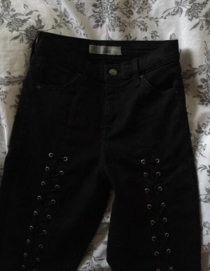 Topshop High Waist Jeans black