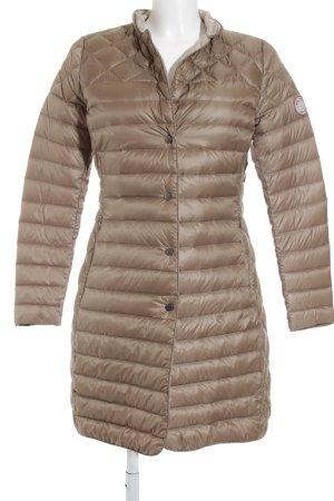 Jan Mayen Abrigo de plumón marrón claro estampado acolchado look casual