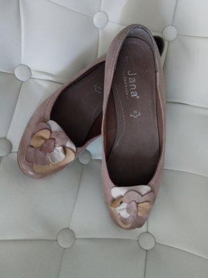 Jana Mary Jane Ballerinas light brown leather