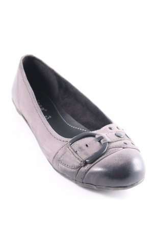 Jana Bailarinas plegables gris oscuro degradado de color look casual