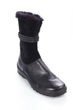 Jana Halbstiefel schwarz schlichter Stil