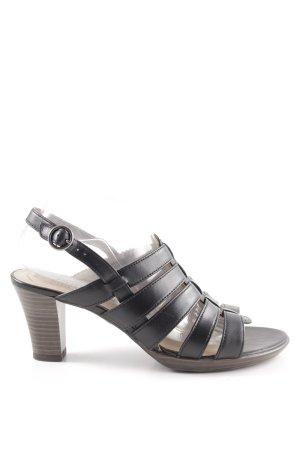 Jana High Heel Sandaletten schwarz Elegant