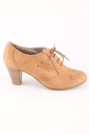 Jana Chaussure à talons carrés rose chair style décontracté