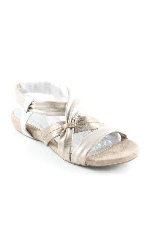 Jana Sandalias cómodas color oro-beige elegante