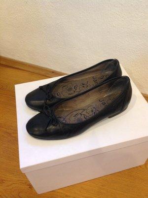 Jana Lederballerina Gr. 40,5 H, für breite Füße, schwarz