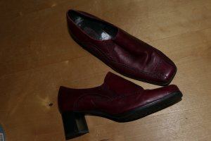 Jana Mary Janes dark red leather