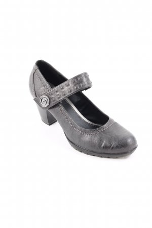Jana Tacones Mary Jane gris oscuro look casual