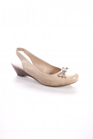 Jana Mary Jane Pumps sandbraun Schleifen-Detail