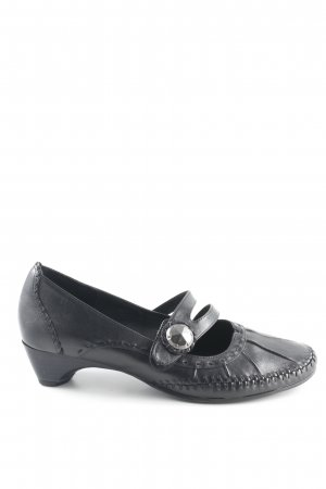 Jana Mary Jane Pumps schwarz Business-Look