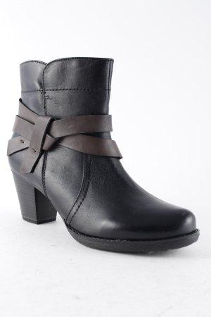 Jana Reißverschluss-Stiefeletten schwarz Elegant