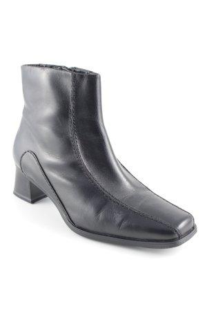 Jana Reißverschluss-Stiefeletten schwarz klassischer Stil