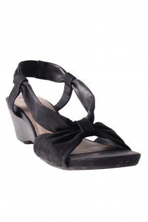 Jana Strapped High-Heeled Sandals black casual look