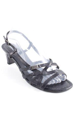 Jana Riemchen-Sandaletten schwarz Casual-Look