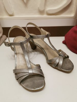Jana Strapped High-Heeled Sandals silver-colored