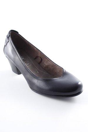Jana Spitz-Pumps schwarz klassischer Stil