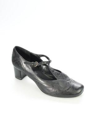 Jana T-Steg-Pumps schwarz klassischer Stil