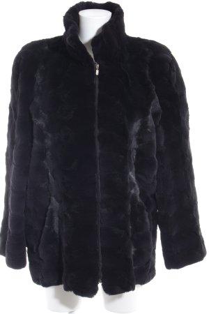 Jane Ginsberg Giacca di pelliccia nero stile casual