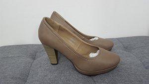 Jane Klain Escarpins Mary Jane chameau-beige faux cuir