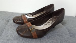 Jane Klain Damen Pumps Peeptoes Vintage Look braun Größe 40 NEU