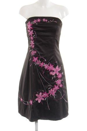 Jane norman Bandeaujurk zwart-roze extravagante stijl