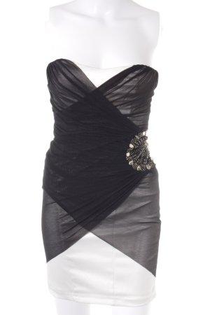 Jane norman Vestido bustier negro-beige claro elegante