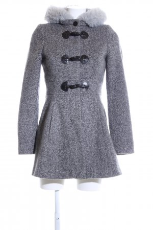Jane norman Heavy Pea Coat light grey flecked business style