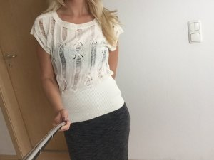 Jane Norman - elegant chices Oberteil transparent- creme