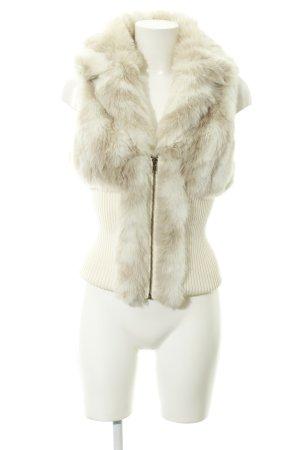 Jane norman Smanicato di pelliccia crema stile stravagante