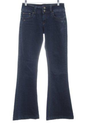 Jane norman Jeans flare bleu foncé tissu mixte