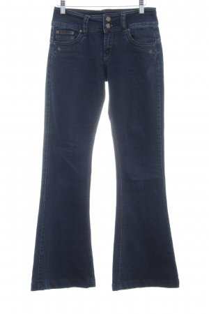 Jane norman Jeansschlaghose dunkelblau meliert 70ies-Stil