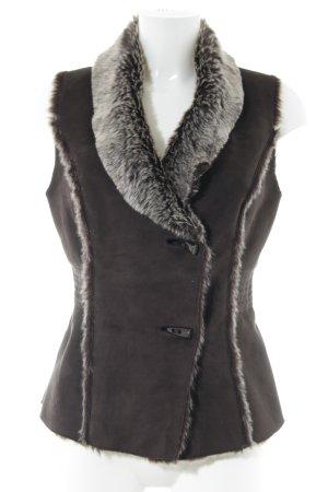 Jane norman Fake Fur Vest bronze-colored casual look
