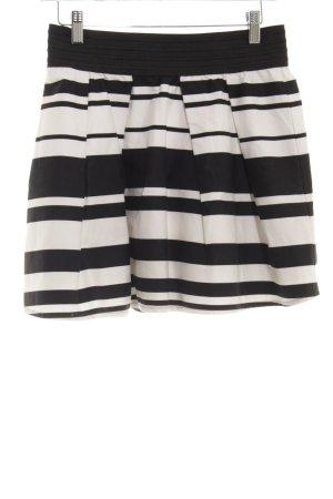 Jane norman Minirock weiß-schwarz Streifenmuster Casual-Look