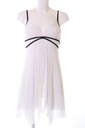 Jane norman Trägerkleid weiß-schwarz Elegant