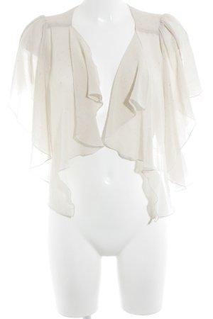 Jane norman Transparenz-Bluse creme Punktemuster Glanz-Optik