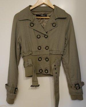 Jane Norman UK Jacke khaki Gr. S (36/38) Retro Look Biker Style