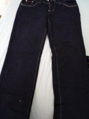 mister*lady Pantalone a vita bassa blu