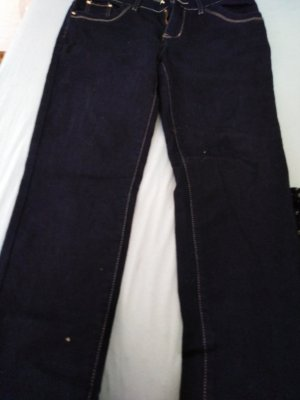 mister*lady pantalón de cintura baja azul