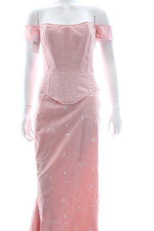 Jane Taylor Abito da sera rosa pallido-rosa chiaro motivo lavorato elegante