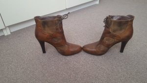 Janet & Janet Ankle Boots bronze-colored leather