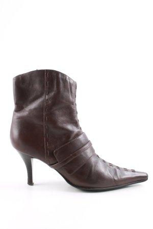 online retailer b6829 06537 Janet D Zipper Booties brown casual look