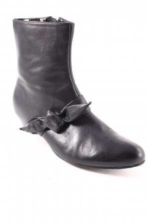 Janet D Reißverschluss-Stiefeletten schwarz Casual-Look