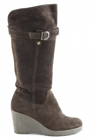 Janet D Jackboots dark brown country style