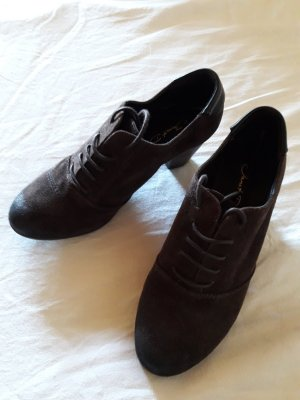 Janet D Tacones con cordones marrón oscuro-marrón-negro