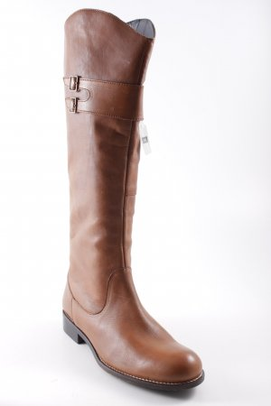 Janet D Stretchstiefel camel-braun Country-Look