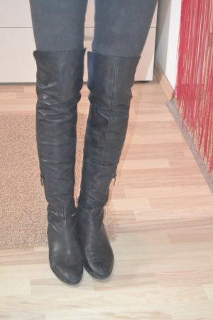 Janet & Janet Kniehoge laarzen zwart