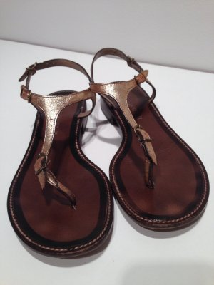 Janet & Janet Sandalen in Gold Metallic Vintage Look