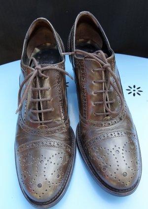 Janet & Janet Wingtip Shoes grey-dark grey leather