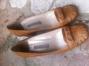 Janet & Janet Loafer color cammello Pelle