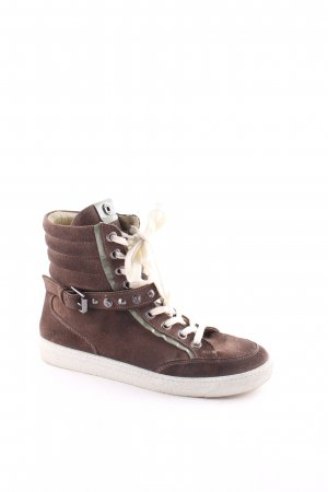 Janet sport High Top Sneaker dunkelbraun-beige Casual-Look